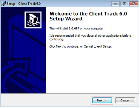 Client Track Setup Wizard