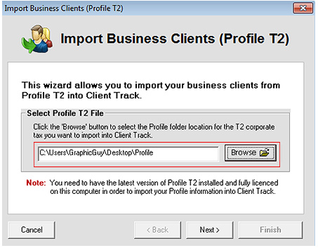 Export CANTAX T2 Screenshot (Step 2)