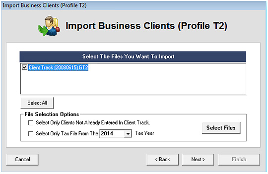 Export CANTAX T2 Screenshot (Step 3)